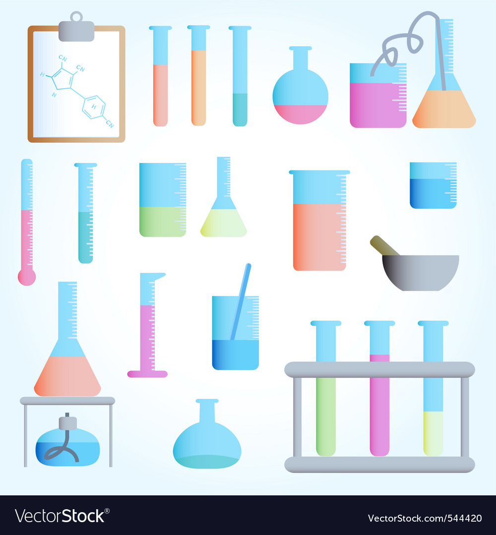 Al test tubes vector vector | Price: 1 Credit (USD $1)