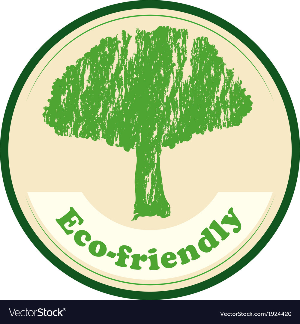 An eco-friendly label vector | Price: 3 Credit (USD $3)
