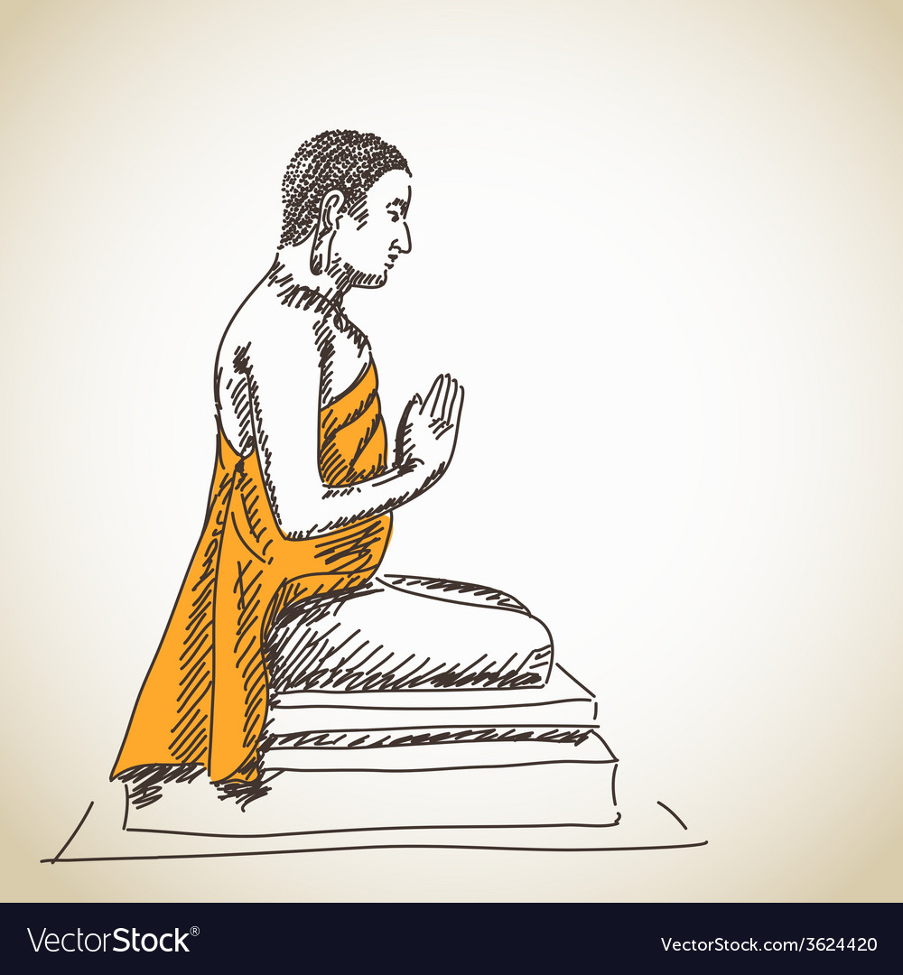Buddha statue vector | Price: 1 Credit (USD $1)