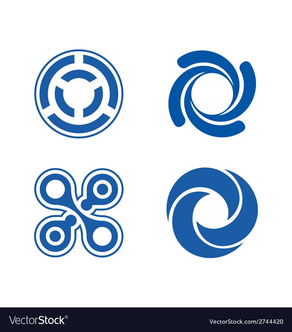Circle element logos theme vector   Price: 1 Credit (USD $1)