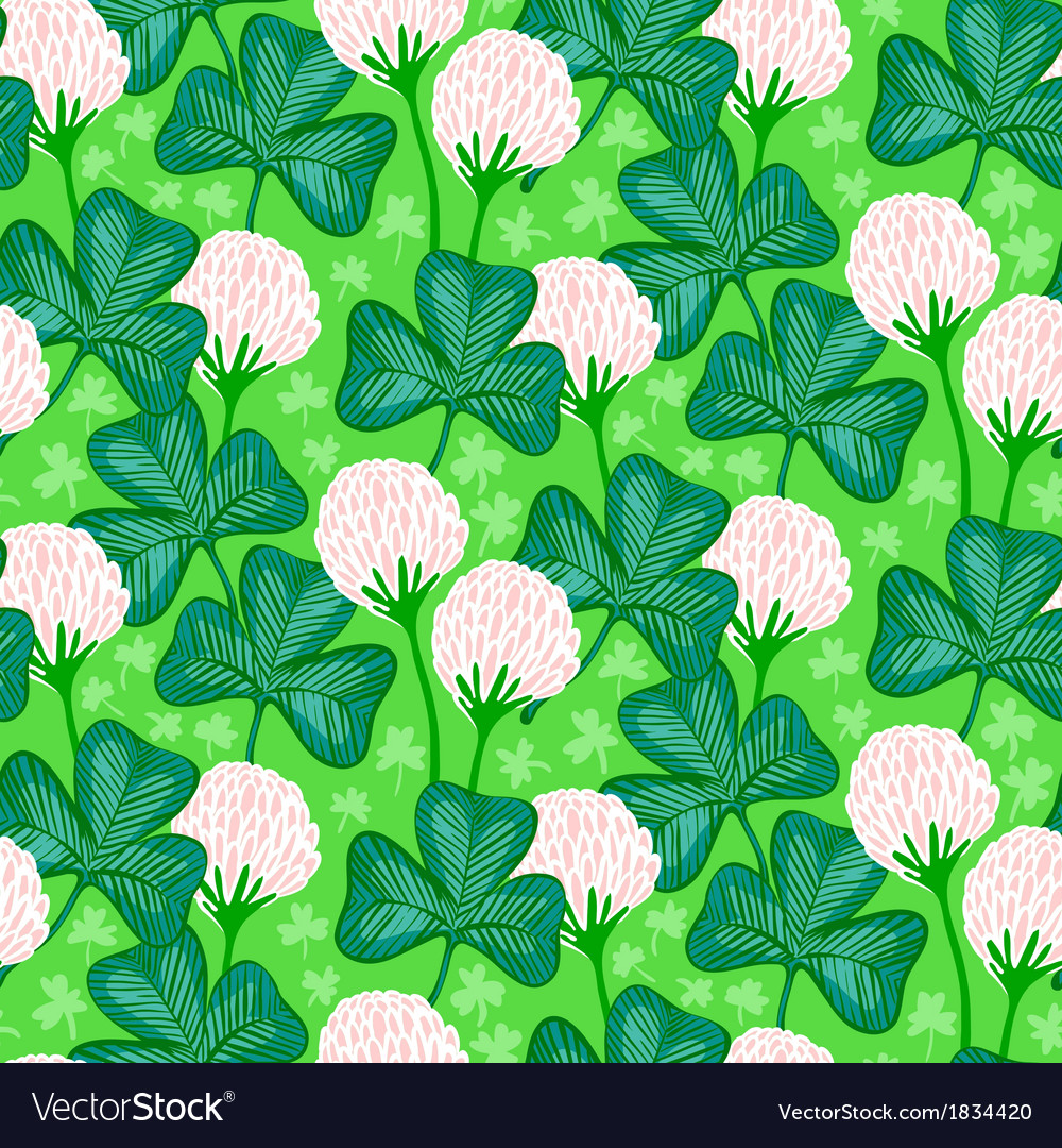 Floral pattern with clover flowers vector | Price: 1 Credit (USD $1)