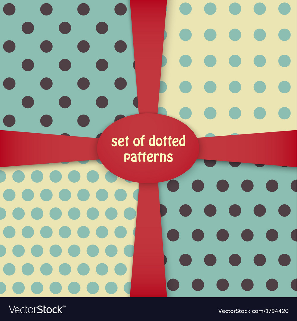 Four dotted colored patterns vector | Price: 1 Credit (USD $1)