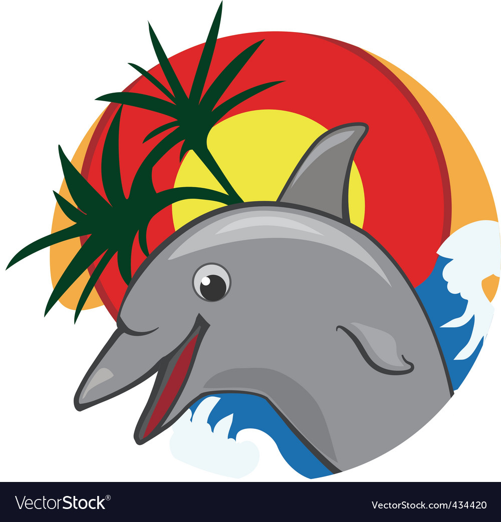 G dolphin color vector illustration vector   Price: 1 Credit (USD $1)
