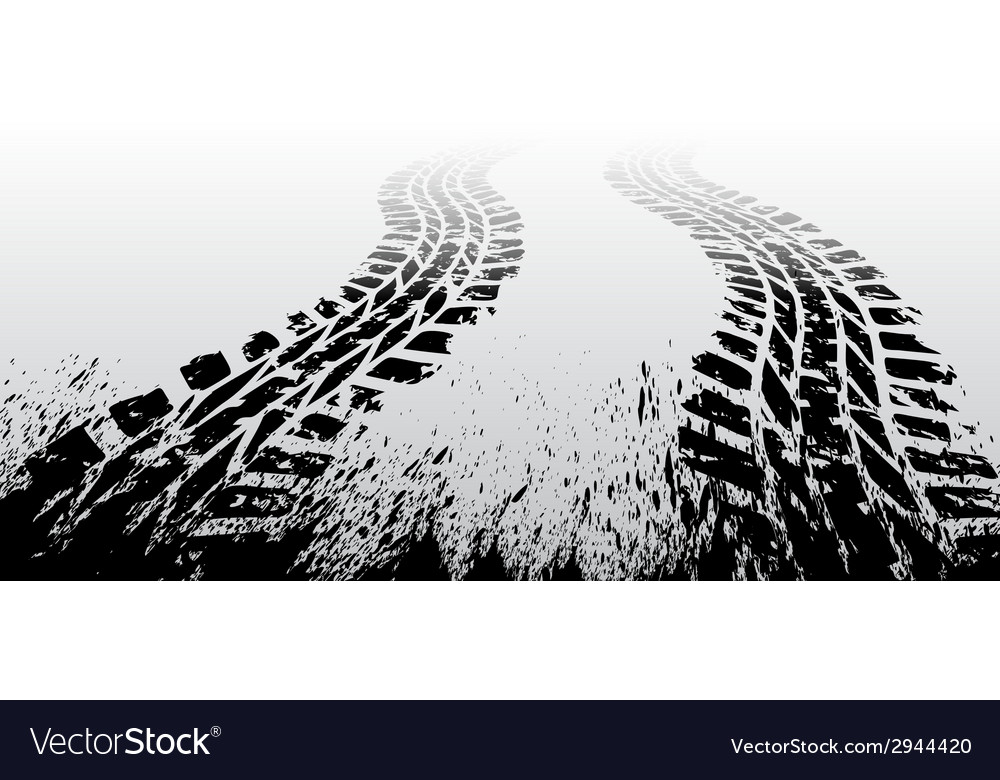 Grunge tire track vector | Price: 1 Credit (USD $1)