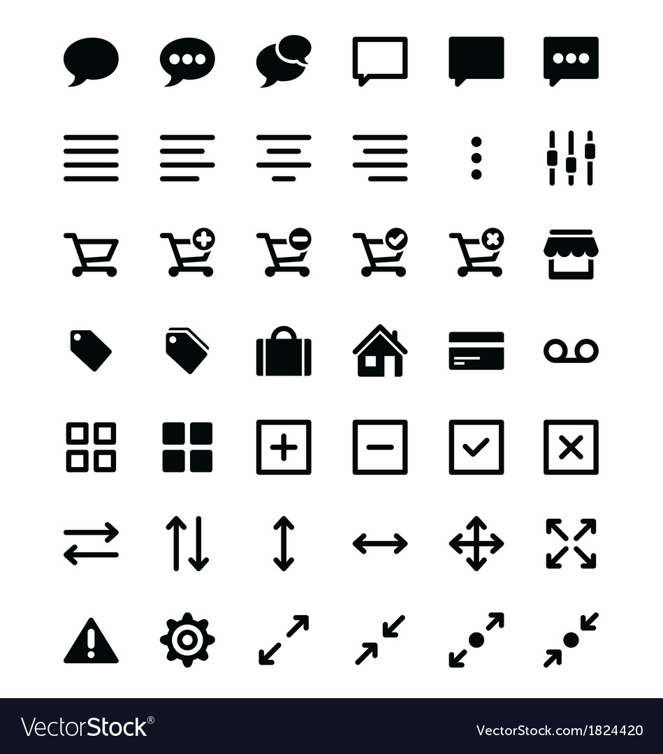 Set of universal icons 2 vector | Price: 1 Credit (USD $1)