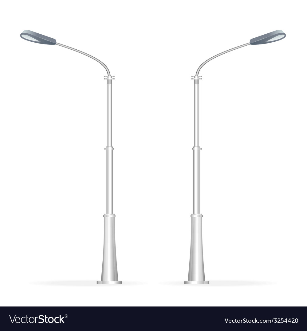 Street lamp isolated on white electricity vector | Price: 1 Credit (USD $1)