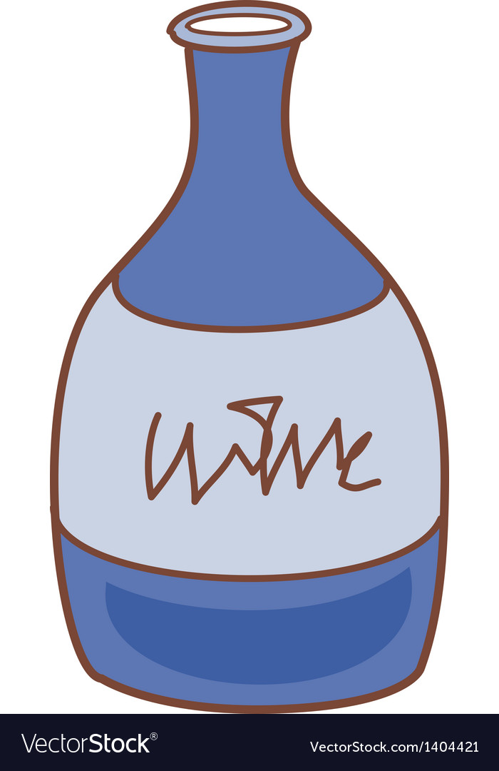 A bottle of wine vector | Price: 1 Credit (USD $1)
