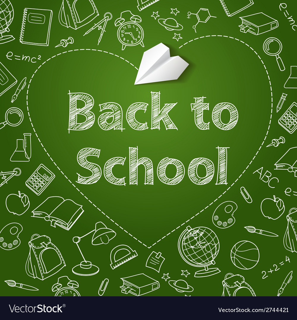 Back to school text end doodle vector | Price: 1 Credit (USD $1)