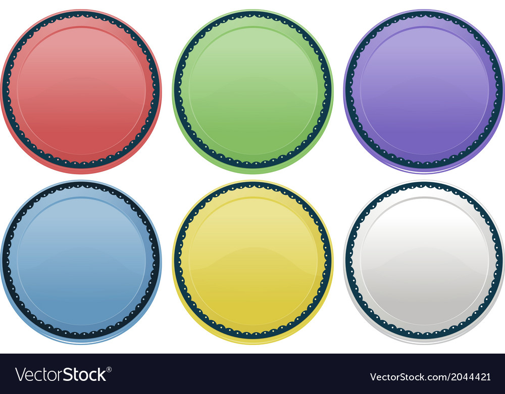 Colourful plates vector | Price: 1 Credit (USD $1)
