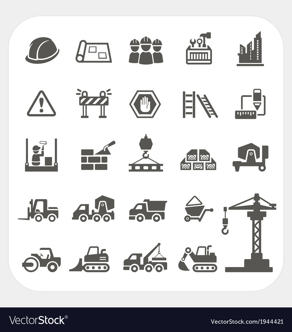 Construction icons set vector | Price: 1 Credit (USD $1)
