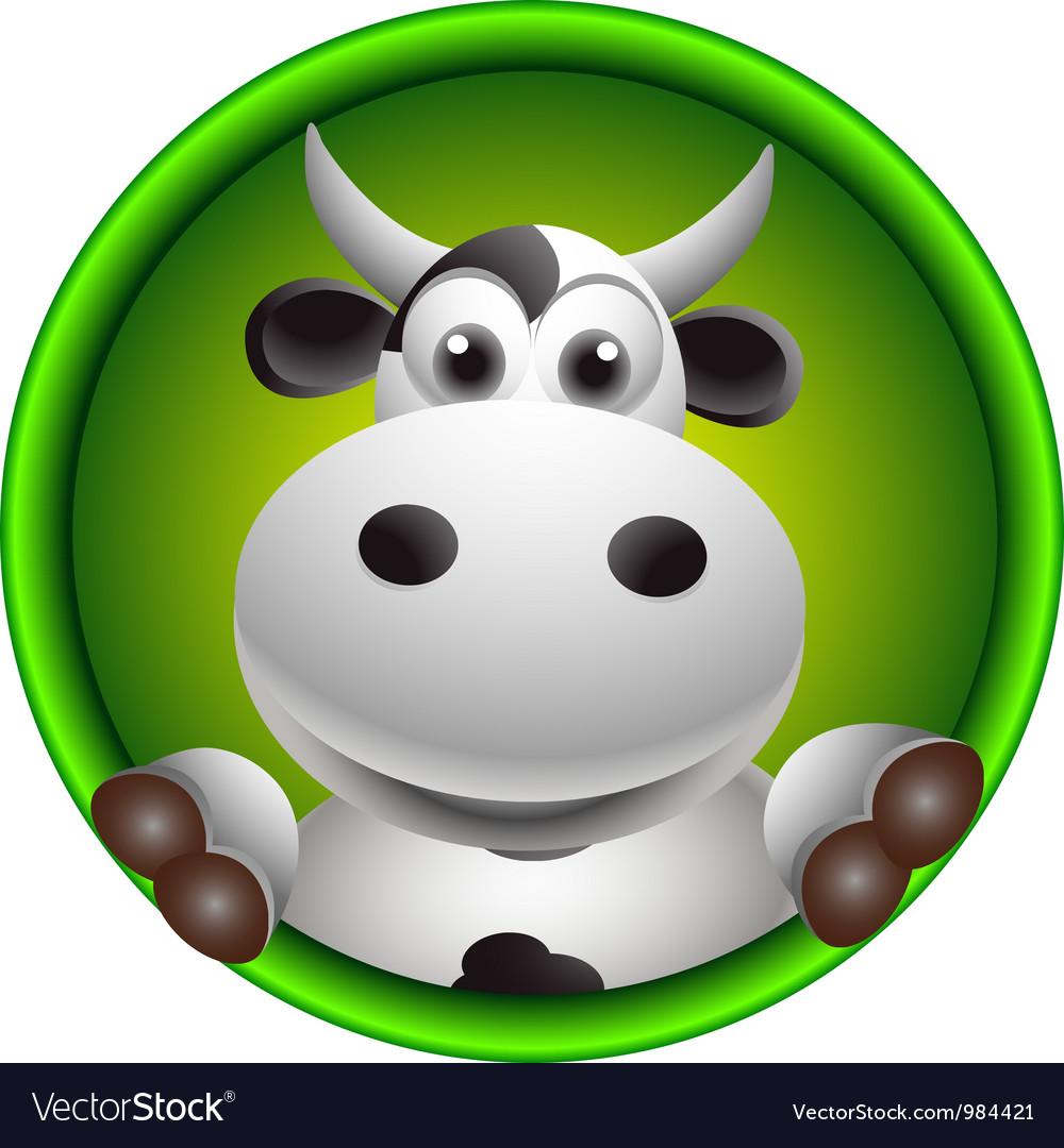Cute cow head cartoon vector | Price: 1 Credit (USD $1)