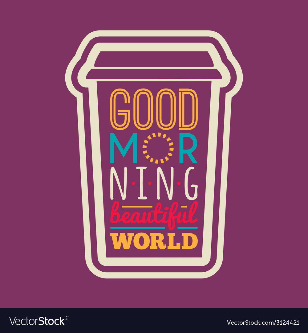 Good morning typography vector | Price: 1 Credit (USD $1)