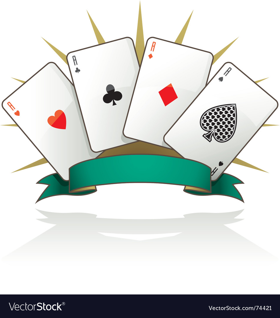 Playing card aces vector | Price: 1 Credit (USD $1)