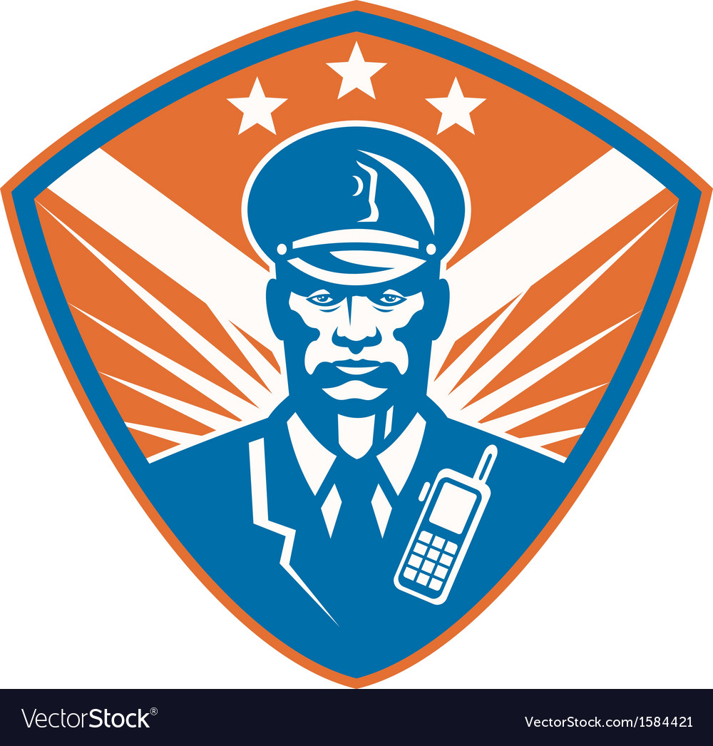 Policeman security guard police officer crest vector | Price: 1 Credit (USD $1)