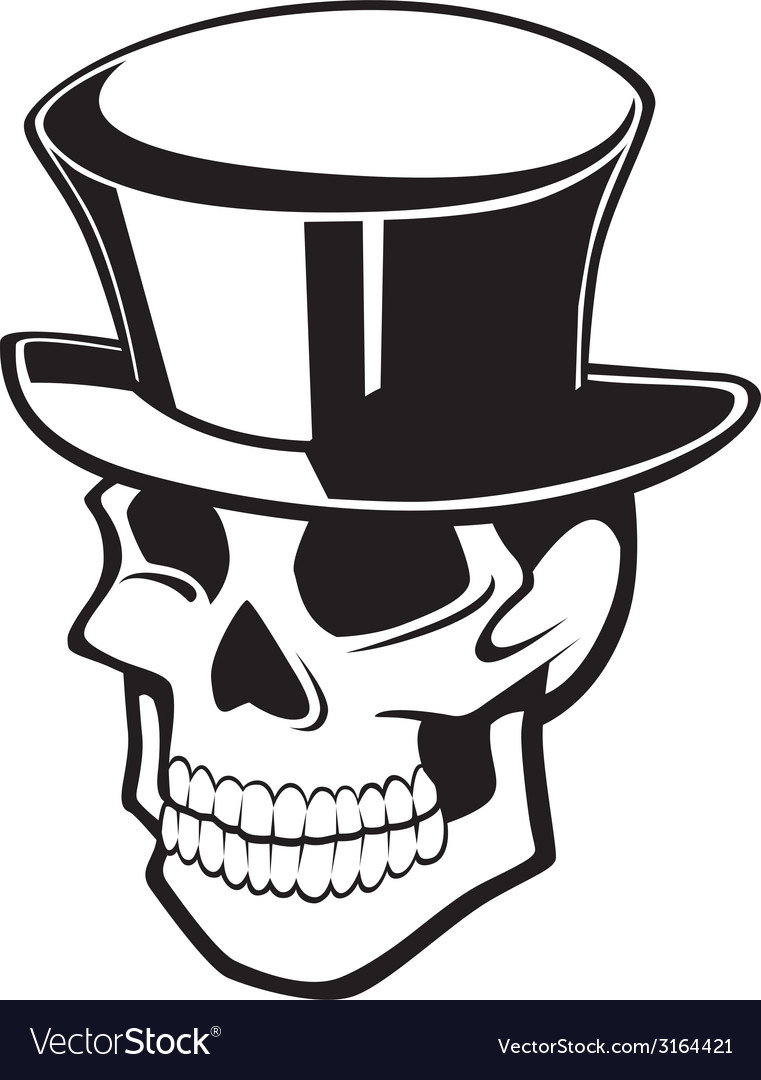 Smiling skull vector | Price: 1 Credit (USD $1)