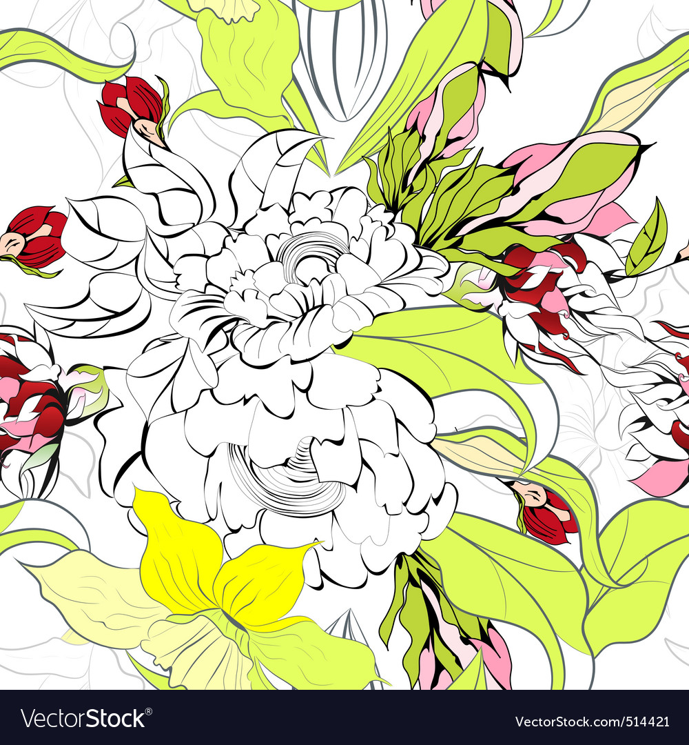 Summer seamess wallpaper vector   Price: 1 Credit (USD $1)