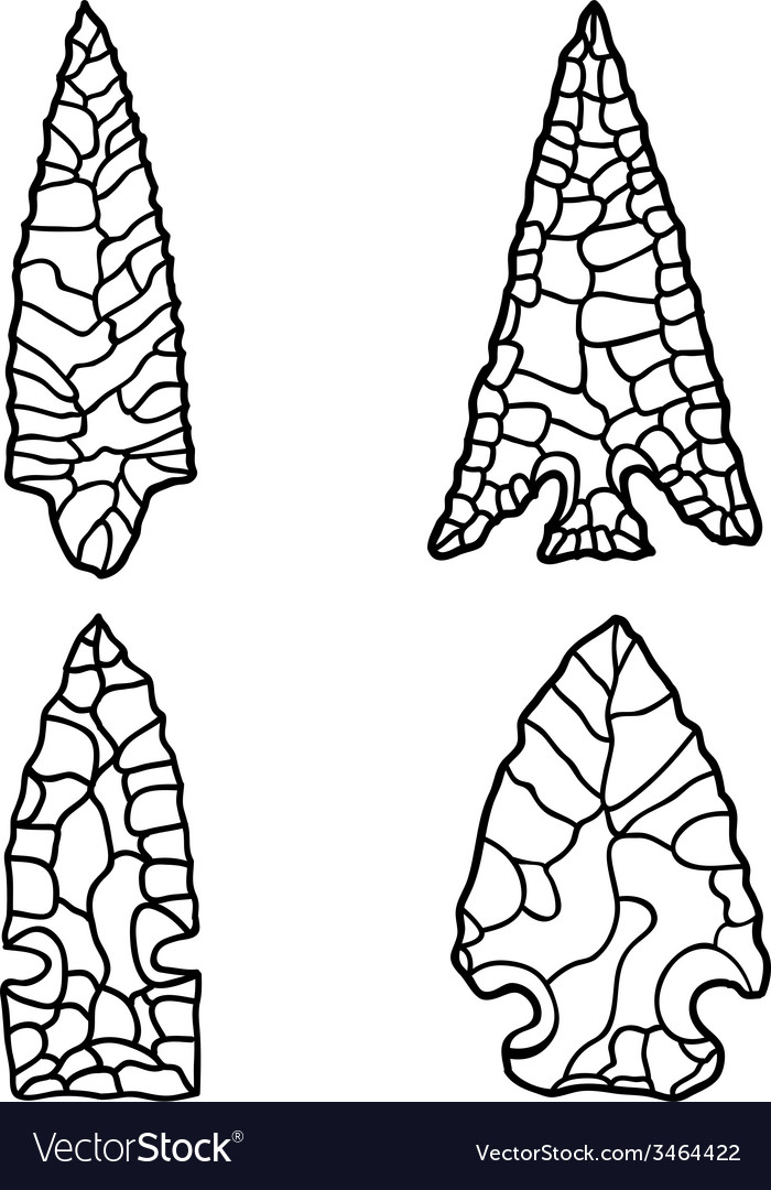 Arrowhead drawings vector | Price: 1 Credit (USD $1)