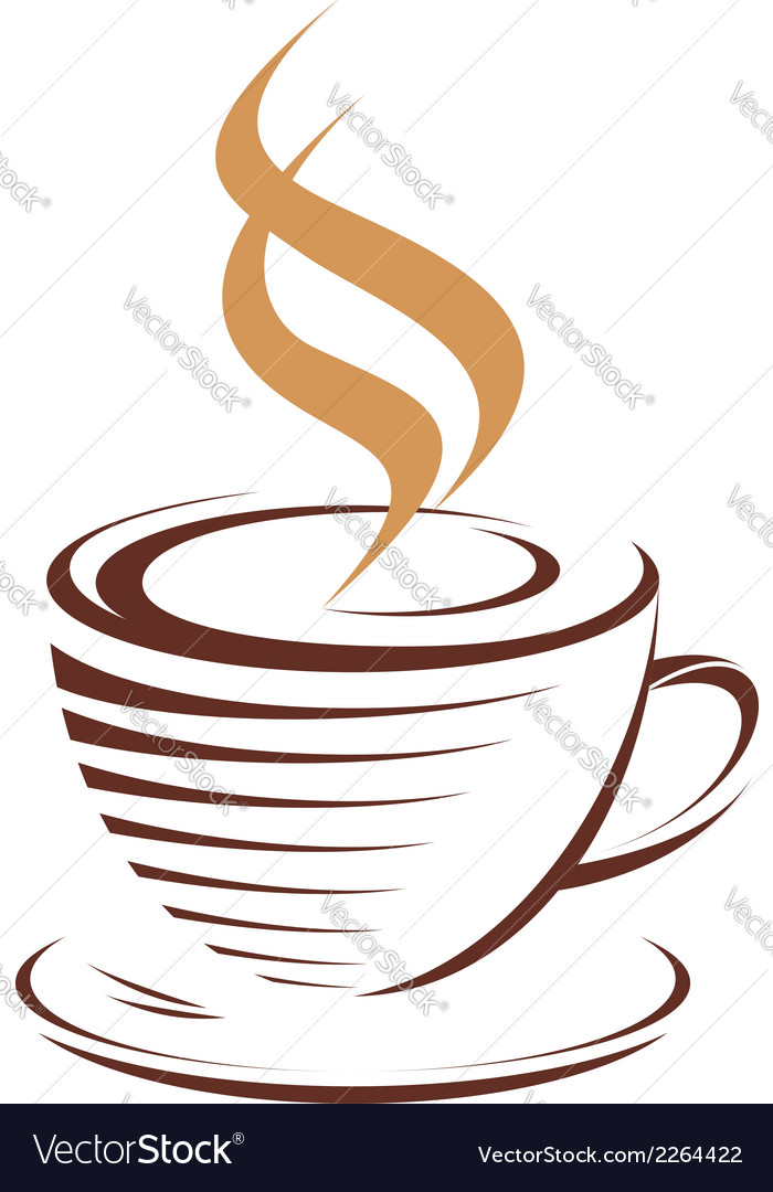 Cup of hot steaming coffee vector | Price: 1 Credit (USD $1)
