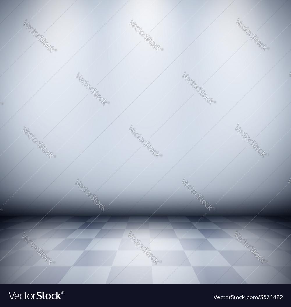 Dark misty room with checkered floor vector | Price: 1 Credit (USD $1)