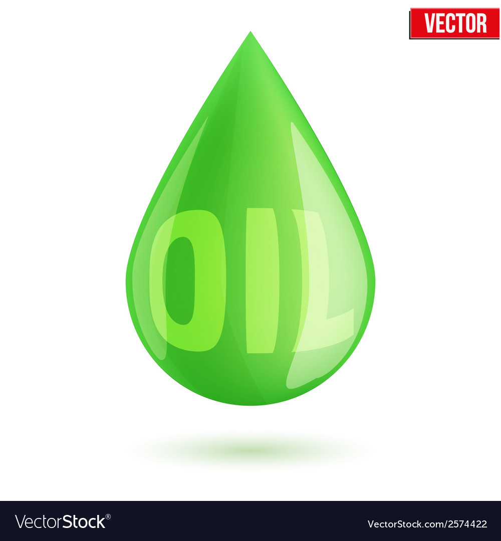 Green oil industry drop symbol vector | Price: 1 Credit (USD $1)