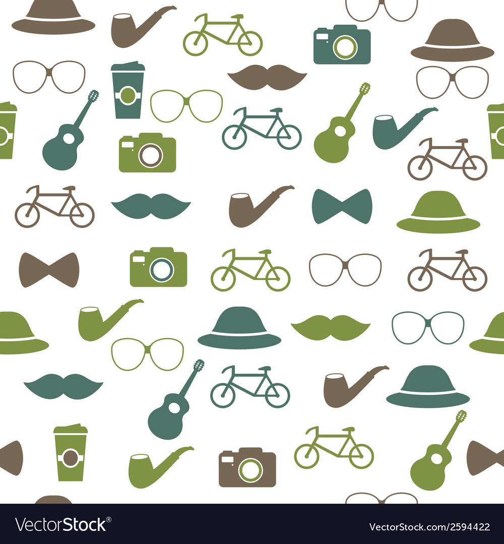 Hipster seamless pattern vector | Price: 1 Credit (USD $1)