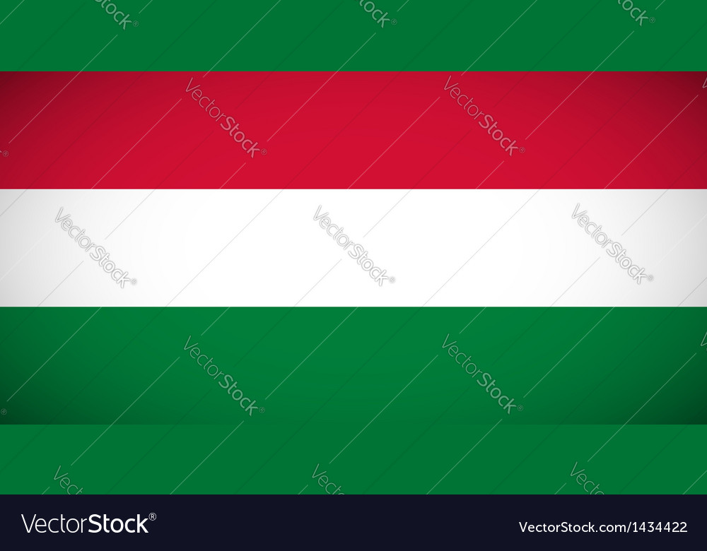 National flag of hungary vector | Price: 1 Credit (USD $1)