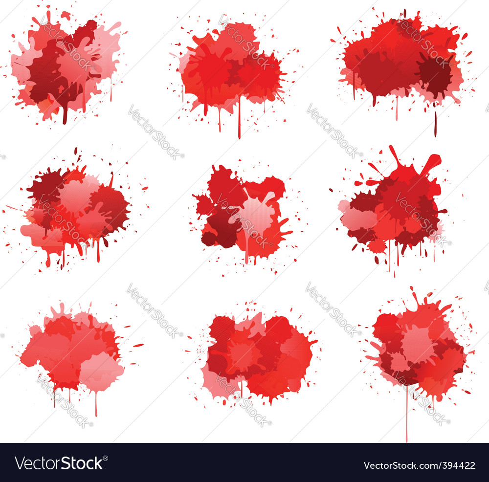 Red ink or blood blobs vector | Price: 1 Credit (USD $1)