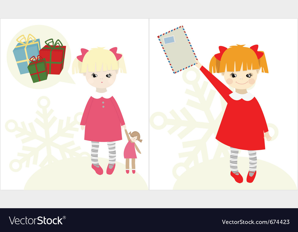 Christmas child vector | Price: 1 Credit (USD $1)
