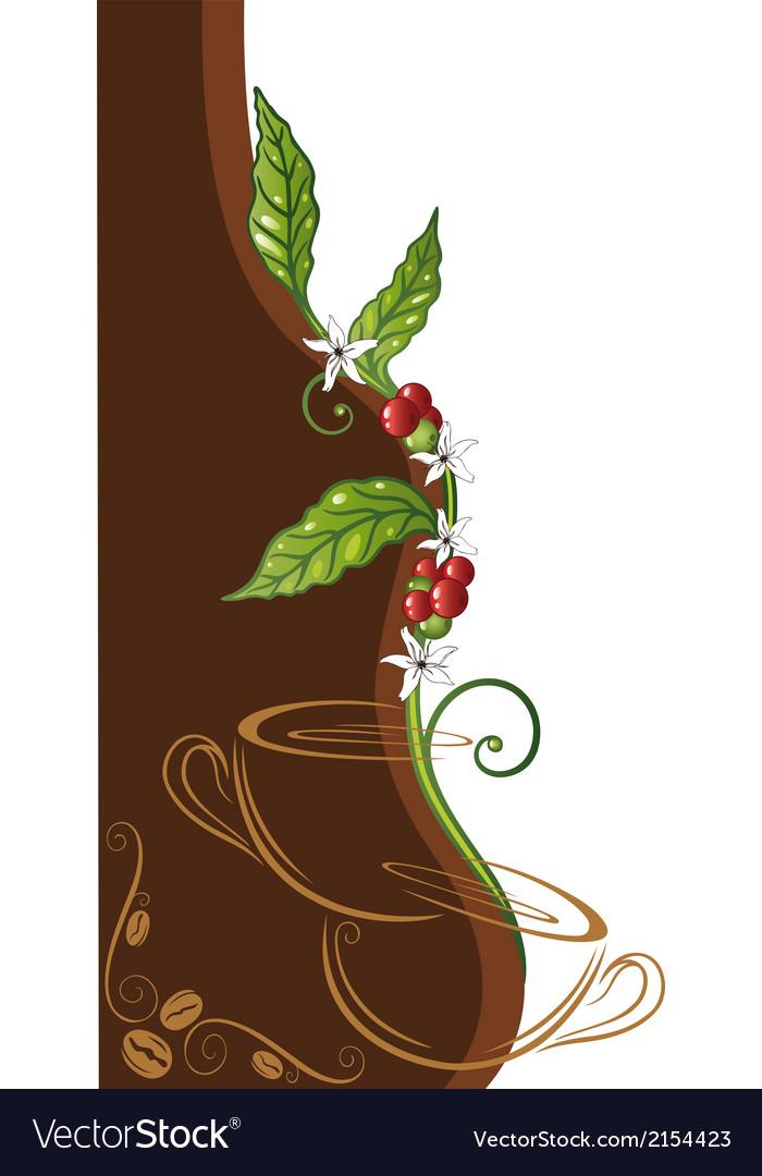 Coffee plant vector | Price: 1 Credit (USD $1)