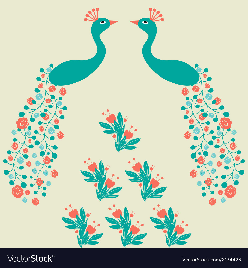 Decorative beautiful abstract peacock luxury vector | Price: 1 Credit (USD $1)