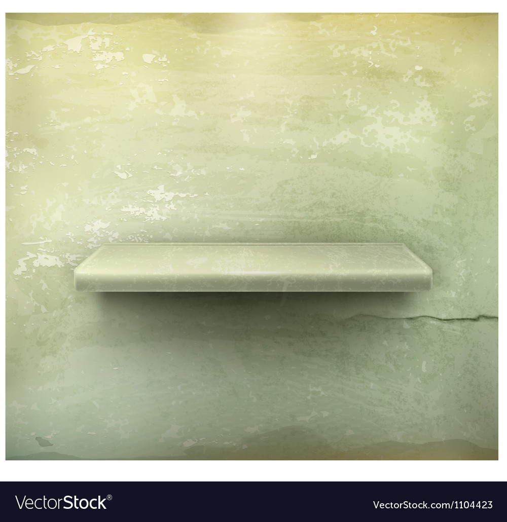 Empty shelf vintage background vector | Price: 1 Credit (USD $1)