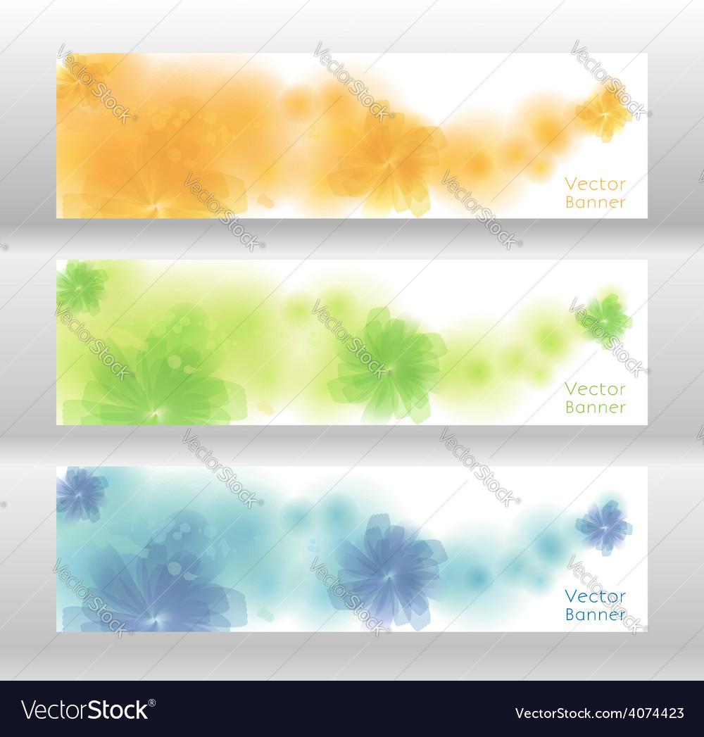 Flower background brochure template banner vector | Price: 1 Credit (USD $1)