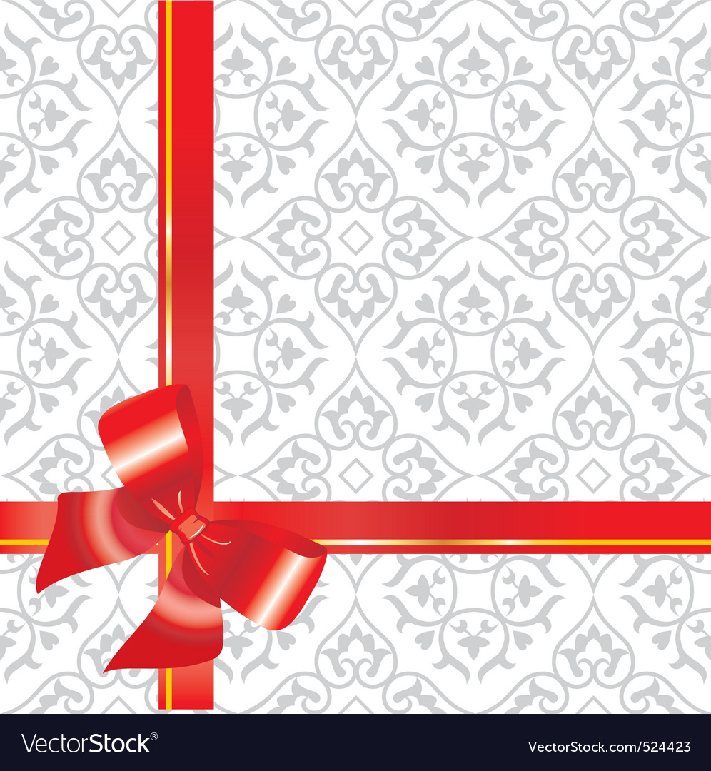 Gift background with bow and r vector | Price: 1 Credit (USD $1)