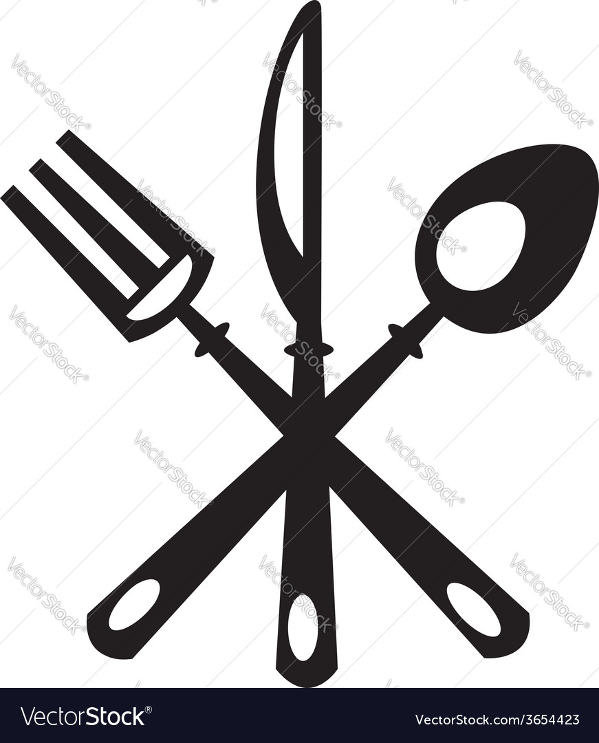 Knife fork and spoon vector | Price: 1 Credit (USD $1)