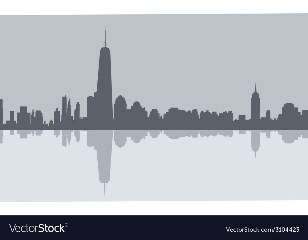 Newyork morning skyline vector | Price: 1 Credit (USD $1)