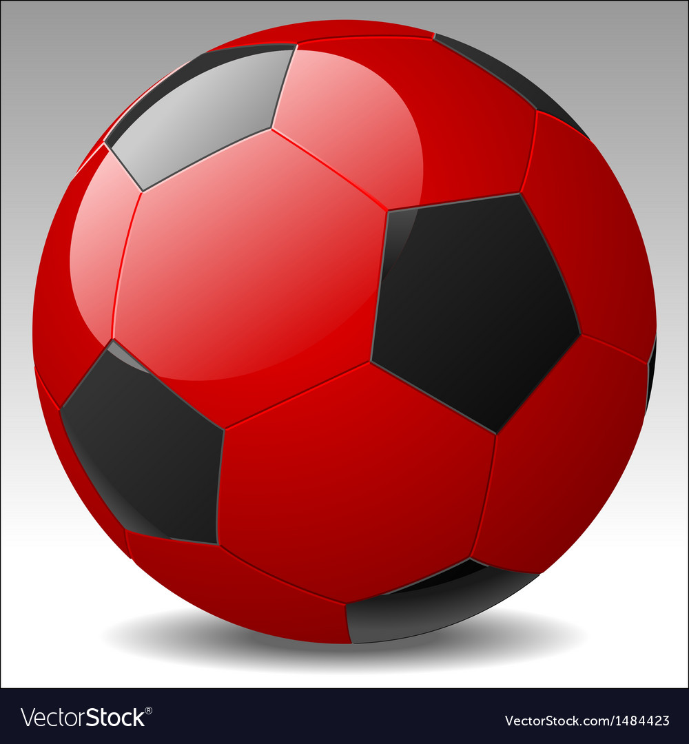 Red soccer ball vector | Price: 1 Credit (USD $1)