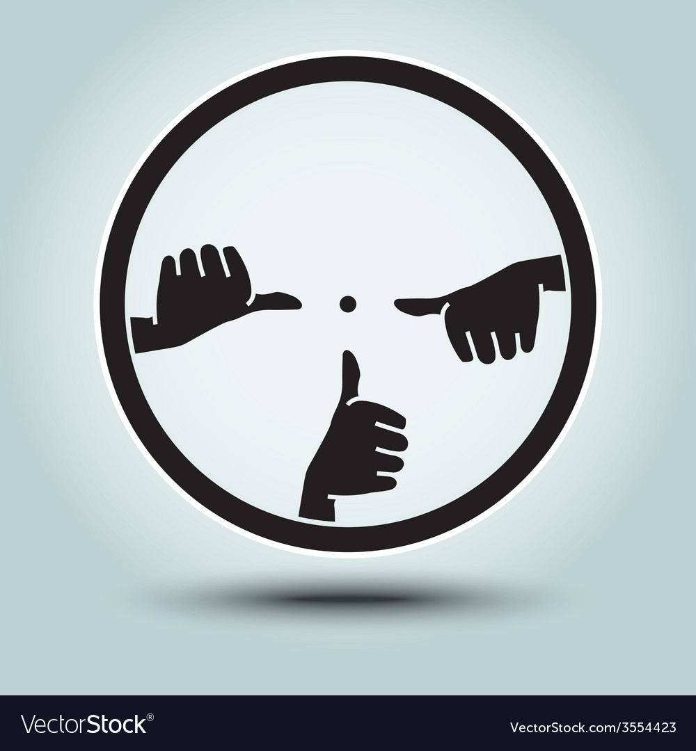 Round sight with crosshairs of hands vector | Price: 1 Credit (USD $1)