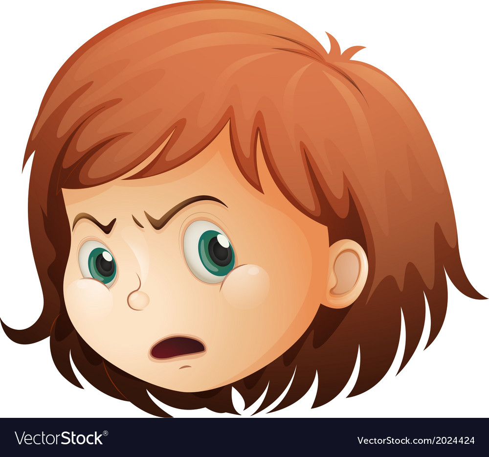 A head of an angry child vector | Price: 1 Credit (USD $1)