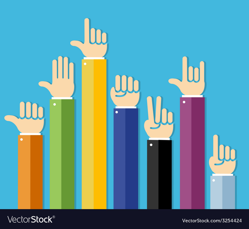 Flat hands set vector | Price: 1 Credit (USD $1)