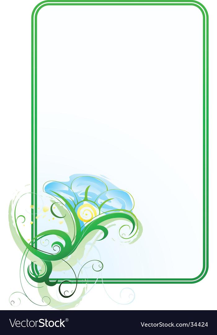 Flower border vector   Price: 1 Credit (USD $1)