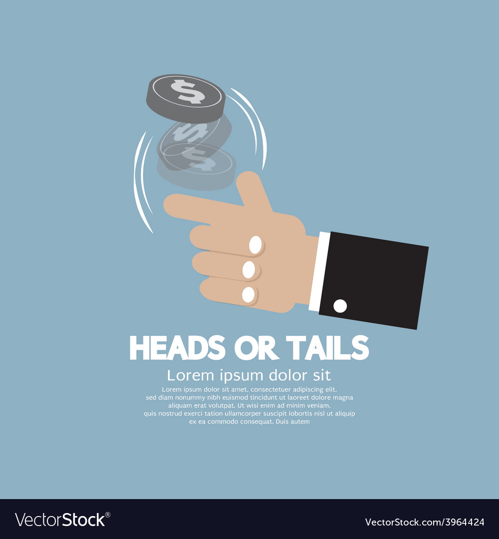 Heads or tails cast lots concept vector | Price: 1 Credit (USD $1)