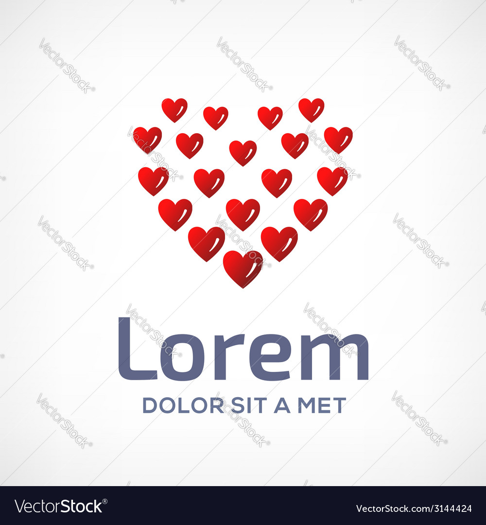 Heart symbol logo icon design template vector | Price: 1 Credit (USD $1)