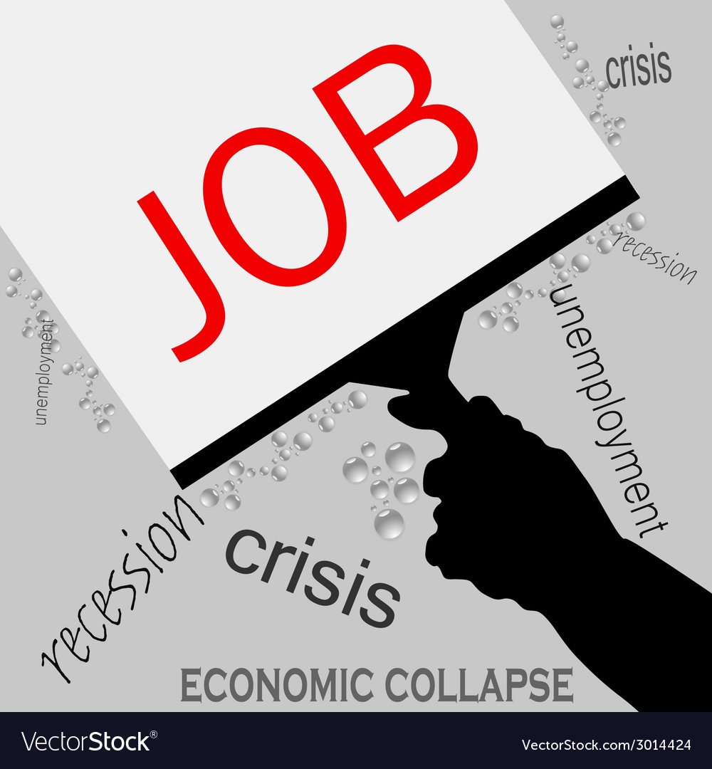 Job in recession icon vector | Price: 1 Credit (USD $1)