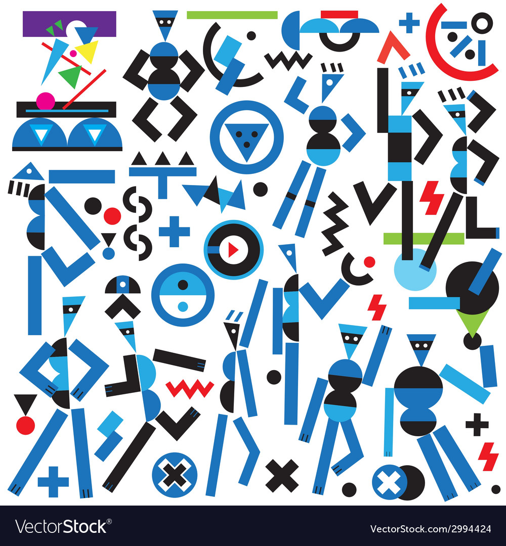 Robots icons vector | Price: 1 Credit (USD $1)