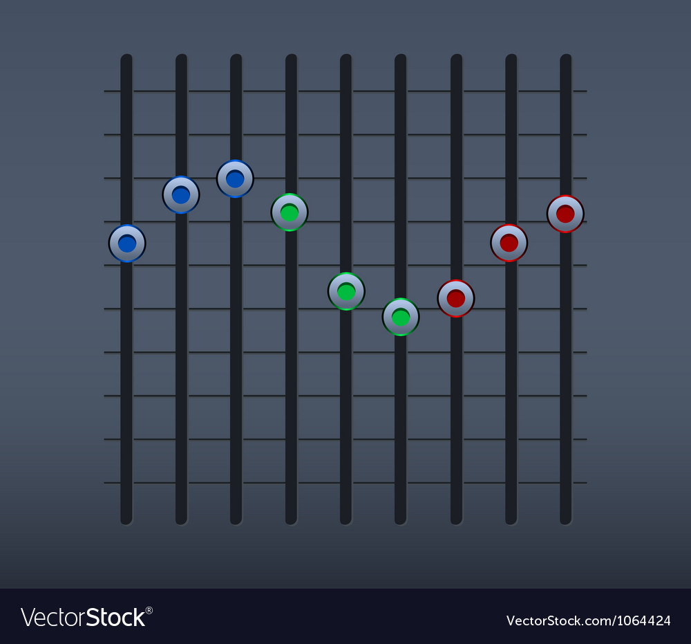 Sound slider vector | Price: 1 Credit (USD $1)