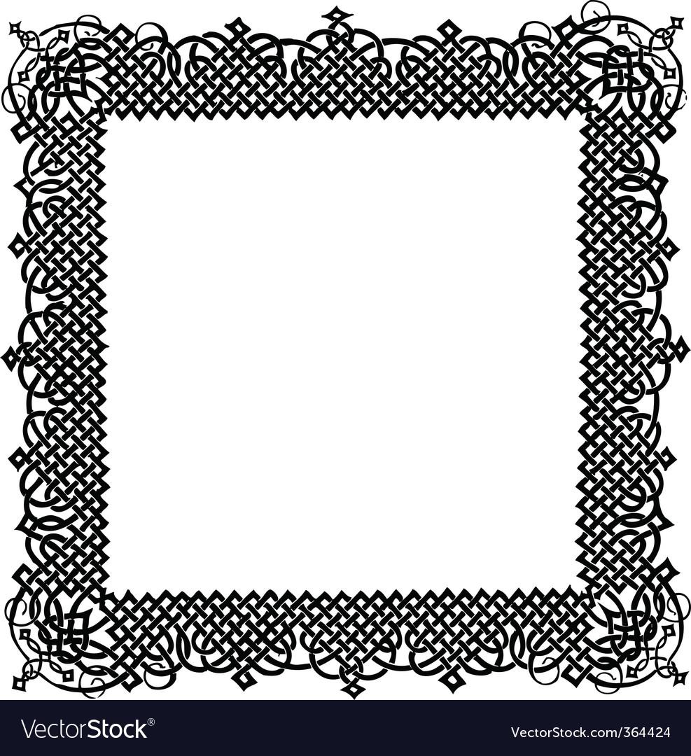 Turkish ornamental frame vector | Price: 1 Credit (USD $1)