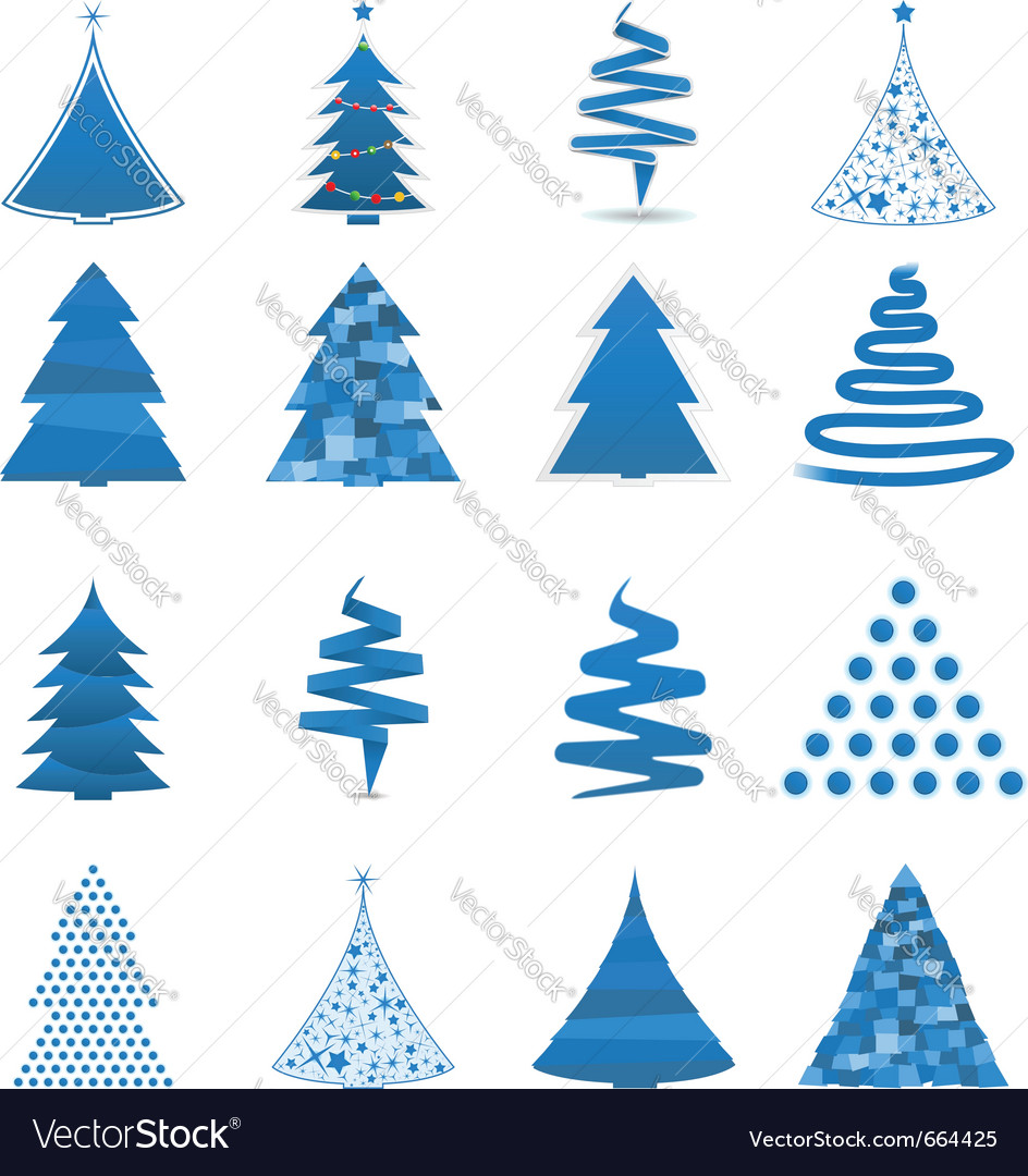 Abstract christmas trees vector | Price: 1 Credit (USD $1)