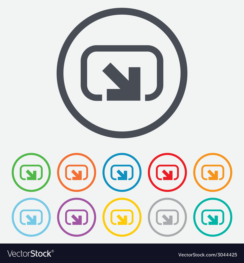 Action sign icon share symbol vector | Price: 1 Credit (USD $1)