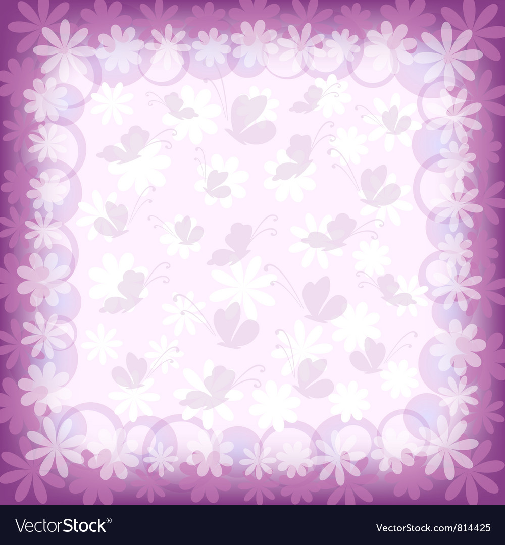 Background butterflies and flowers vector | Price: 1 Credit (USD $1)