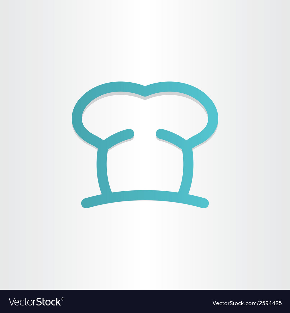 Chef icon cooking hat vector | Price: 1 Credit (USD $1)